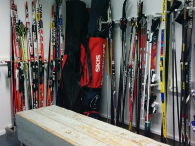 Lodge ski room